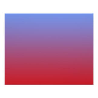 Descoloramiento rojo a los colores azules, diseño  folleto 11,4 x 14,2 cm
