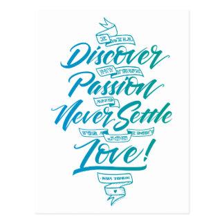 Descubra mi postal verdadera de la pasión, azul