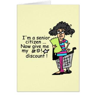 Descuento del jubilado tarjeta