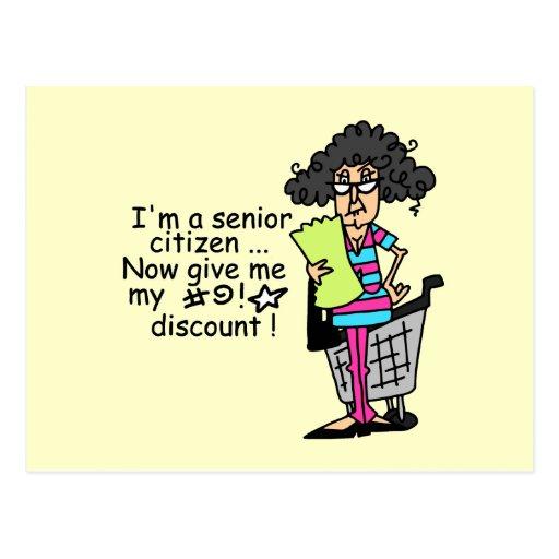 Descuento del jubilado tarjeta postal