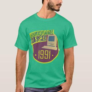 Desde 1991 - camiseta retra impresionante del