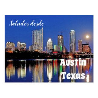 Desde Austin Tejas - postal de Saludos