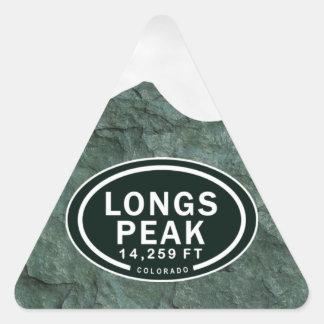 Desea la montaña rocosa del pie Colorado del pico Pegatina Triangular