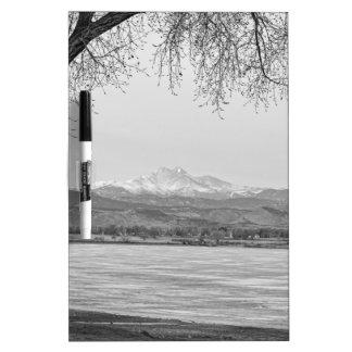 Desea la opinión máxima del invierno blanco y negr pizarras