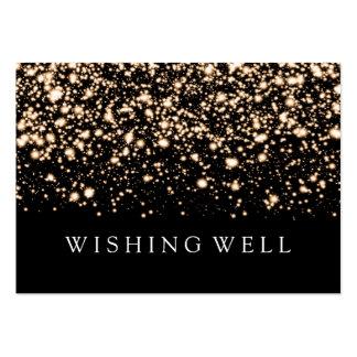 Deseando a oro bien encanto de medianoche tarjetas de visita grandes