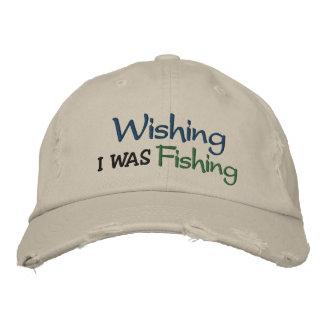 Deseando pescaba la gorra de béisbol bordada