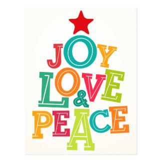 ¡Deseándole alegría, amor y paz esta estación! Postal
