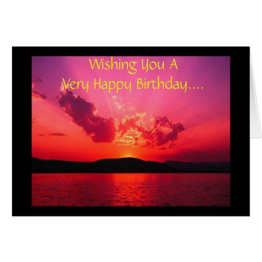 Deseándole cumpleaños muy feliz de A…. Tarjeta De Felicitación