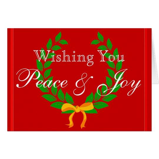 Deseándole día de fiesta del navidad de la tarjeta de felicitación
