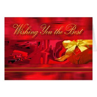 Deseándole el mejor navidad tarjeta de felicitación