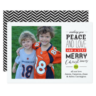 Deseándole la tarjeta de la foto del día de fiesta invitación 12,7 x 17,8 cm