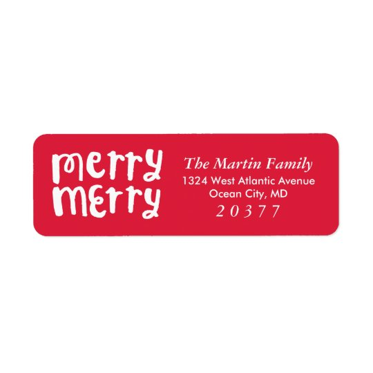 Deseándole navidad del | etiqueta del remite