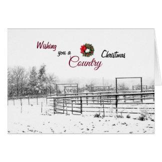 Deseándole una tarjeta de felicitación del navidad