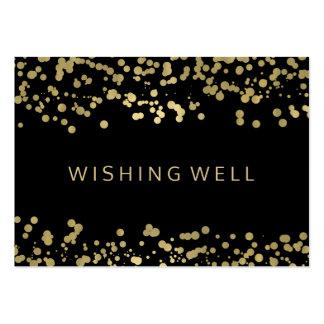 Desear confeti bien de la hoja de oro tarjetas de visita grandes