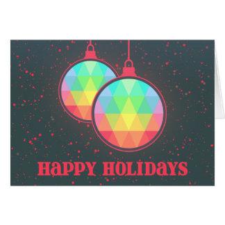Desear el árbol de navidad decorativo del día de tarjeta de felicitación