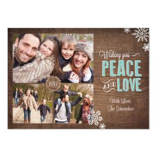 Desear la tarjeta de la foto del día de fiesta del