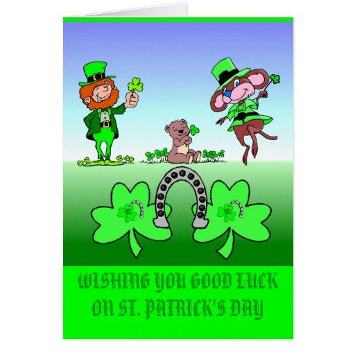 Desear leprechauns de la buena suerte felicitacion zazzle - Cuanto dura la mala suerte ...