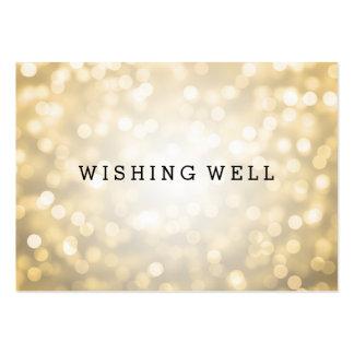 Desear luces bien del brillo del oro tarjetas de visita grandes