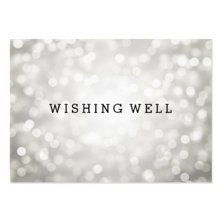 Desear luces de plata bien del brillo tarjeta de visita