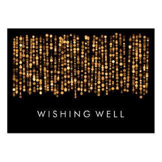 Desear luces modernas bien del oro tarjetas de visita