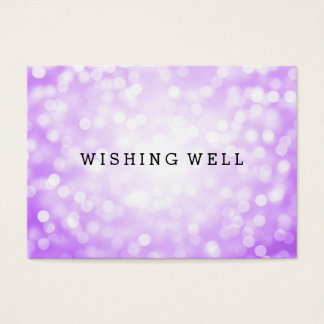 Desear luces púrpuras bien del brillo tarjeta de negocios