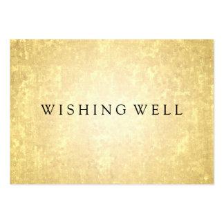 Desear mirada bien de la hoja de oro protagoniza tarjetas de visita grandes