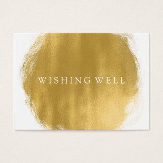 Desear mirada bien de la pintura del oro tarjeta de negocios