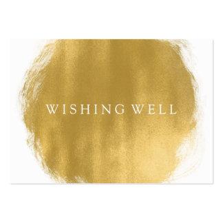 Desear mirada bien de la pintura del oro tarjetas de visita grandes