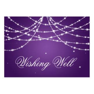 Desear púrpura bien chispeante de la secuencia tarjetas de visita grandes