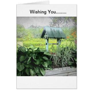 Desear tarjetas de felicitación bien