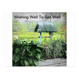 Desear tarjetas de felicitación bien postal