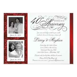 Desee las 40.as invitaciones del aniversario - invitación 13,9 x 19,0 cm