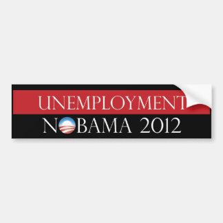 Desempleo Nobama 2012 Pegatina Para Coche