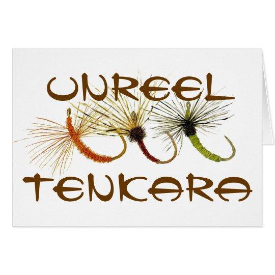 Desenrolle la tarjeta de felicitaciones de Tenkara
