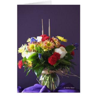 Deseo del aniversario para la mamá y el papá tarjeta de felicitación