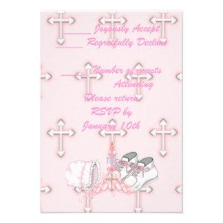 Deseo del bautizo de los chicas comunicados personalizados