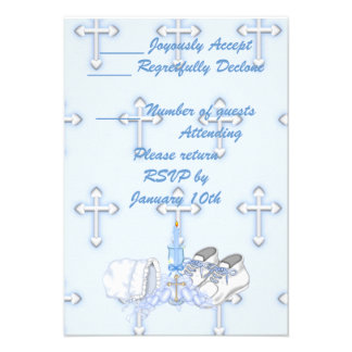 Deseo del bautizo de los muchachos anuncios personalizados