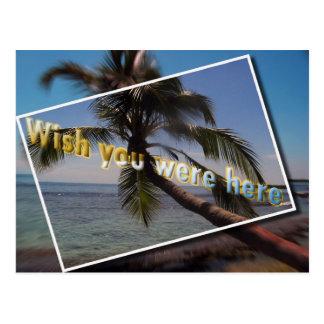 Deseo del Caribe usted estaba aquí: Postal