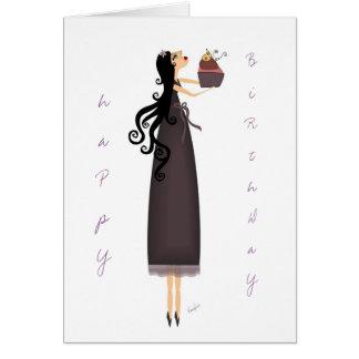 Deseo del cumpleaños tarjeta de felicitación