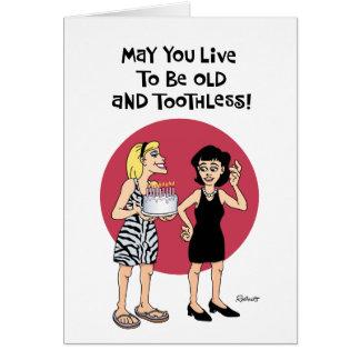 Deseo divertido del cumpleaños para el amigo tarjeta de felicitación