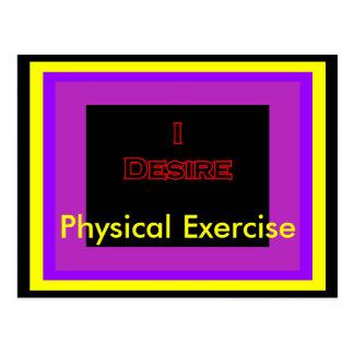 Deseo ejercicio físico postal
