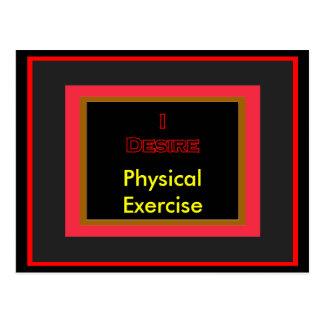 Deseo ejercicio físico tarjetas postales