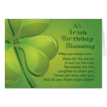 Deseo irlandés de la bendición del cumpleaños tarjeta