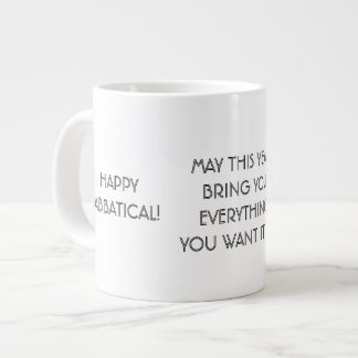 Deseo sabático feliz, taza enorme de la taza grande