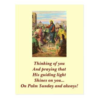 Deseo santo de Domingo de Ramos Postal