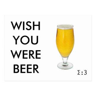 Deseo usted era la cerveza (?!) postal