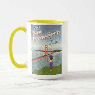 """Deseo usted estaba aquí"" puente Golden Gate Taza"