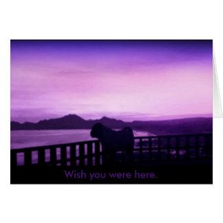 Deseo usted estaba aquí tarjeta del barro amasado