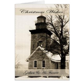 Deseos ahijado y prometido del navidad tarjeta de felicitación