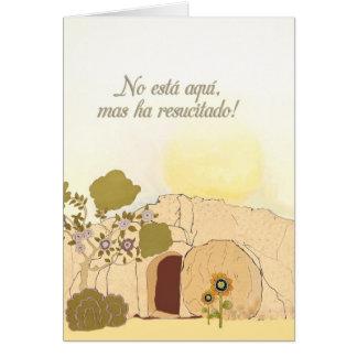Deseos cristianos de Pascua en español (lo suben) Tarjeta De Felicitación